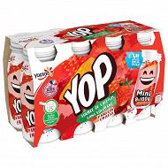 Yoplait yaourt à boire mini yop gout fraise sucré aromatisé 8X100g