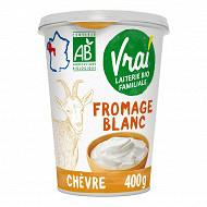 Vrai fromage blanc bio lait de chèvre 400g