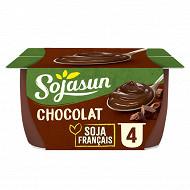 Sojasun dessert au soja chocolat 4x100 g