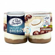 Le Petit Basque yaourt au lait de brebis sur lit de châtaignes 2x125g