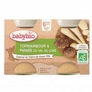Babybio Pot topinambour panais du Val de Loire dès 4 mois 2x130g