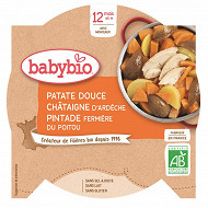 Babybio assiette patate douce châtaigne pintade sans gluten dès 12 mois 230g