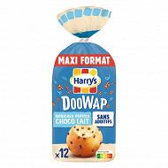 Doowap brioches sans additifs aux pépites de chocolat au lait x12 480g
