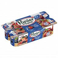 Panier de Yoplait 0% fruits rouges 8x130g
