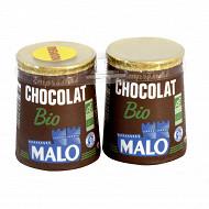 Malo emprésuré carton bio chocolat 2x125g