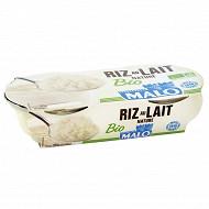 Malo riz au lait nature bio 2x140g