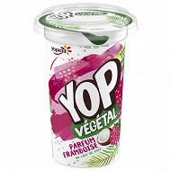 Yop végétal au lait de coco parfum framboise 200g