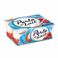 Perle de lait sur lit de fraise / fraise des bois 4x125g