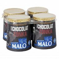 Malo emprésuré chocolat tonka 4x125g