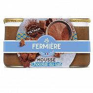 La Fermière mousse chocolat au lait 2x85g
