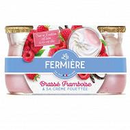 La Fermière yaourt framboise crème fouettée 2x120g
