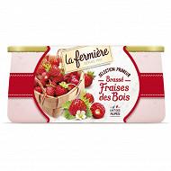 La Fermière yaourt brassé fraise des bois 2x125g