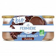 La Fermière crème dessert chocolat bio 2x125g