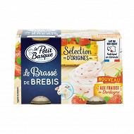 Le Petit Basque le brassé de brebis fraise de Dordogne 2x120g