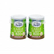 Le Petit Basque caillé brebis chocolat bio 2x125g