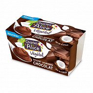 Charles & Alice végétal coco chocolat 2x110g