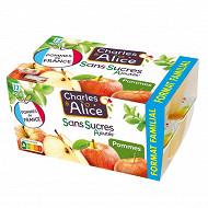 Charles & Alice sans sucre ajouté pomme 12x100g
