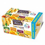 Charles & Alice sans sucre ajouté panaché exotique 12x100g