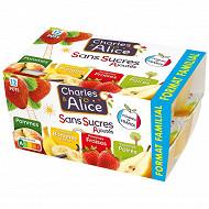 Charles & Alice sans sucre ajouté 12x100g