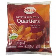 Cora pommes de terre en quartier 600g