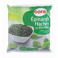 Cora épinards hachés en portions 1kg