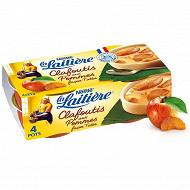 La Laitière Clafoutis aux pommes facon tatin 4x85g