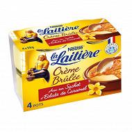 La Laitière Crème brulée avec sachet d'éclats de caramel 4x100g