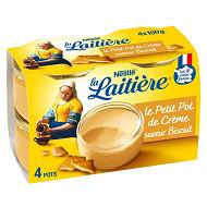 La Laitière Petit pot de crème biscuit 4x100g