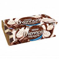 Le Viennois Mousse Liégeois chocolat 8x90g