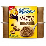 La Laitière Secret de mousse café 4 x 59g