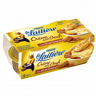 La laitière Crème aux oeufs saveur vanille sur lit de caramel 4x100g