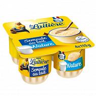 La Laitière Semoule au lait nature 4x115g