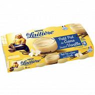 La Laitière Petit pot de crème vanille 8x100g