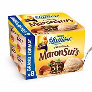 La Laitière Maronsui's mousse crème de marrons 4x68,8g