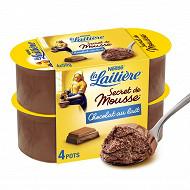 La Laitière Secret de mousse chocolat au lait 4x59g