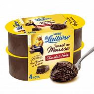 La Laitière Secret de mousse chocolat noir 4x59g