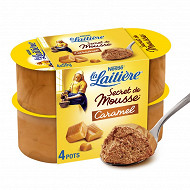 La Laitière Secret de mousse caramel 4x59g