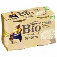 La Laitière Riz au lait nature bio 4x100g