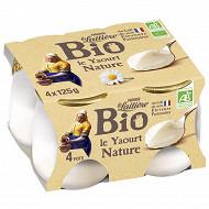 La Laitière Yaourt au lait entier nature bio 4x125g