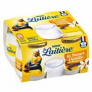 La Laitière Yaourt au lait entier vanille 4x125g