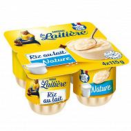 La Laitière Riz au lait nature 4x115g