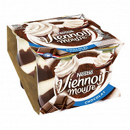 Le Viennois Mousse Liégeois chocolat 4x90g