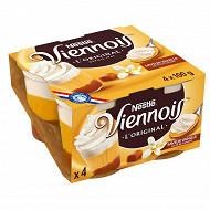 Le Viennois Liégeois vanille sur lit de caramel 4x100g