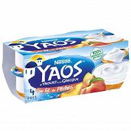 Yaos yaourt à la grecque sur lit de pêches 4x125g