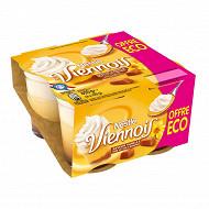 Le Viennois Liégeois vanille sur lit de caramel 4x100g offre éco