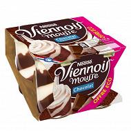 Le Viennois Mousse Liégeois chocolat 4x90g offre éco