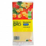 Nature bio emmental au lait pasteurisé 28%mg 250g