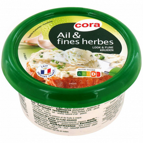 Cora fromage ail et fines herbes 150g