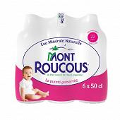 Eau minérale Mont Roucous 6x50cl