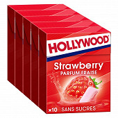 Hollywood fresh fraise sans sucres 70g